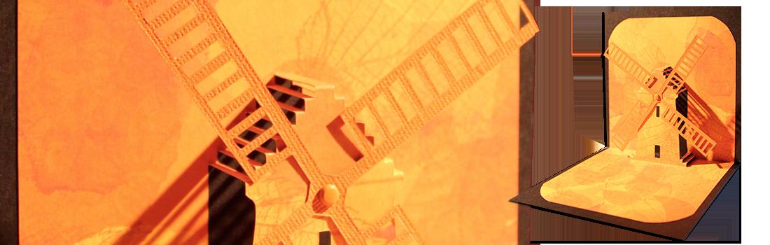 moulin en kirigami