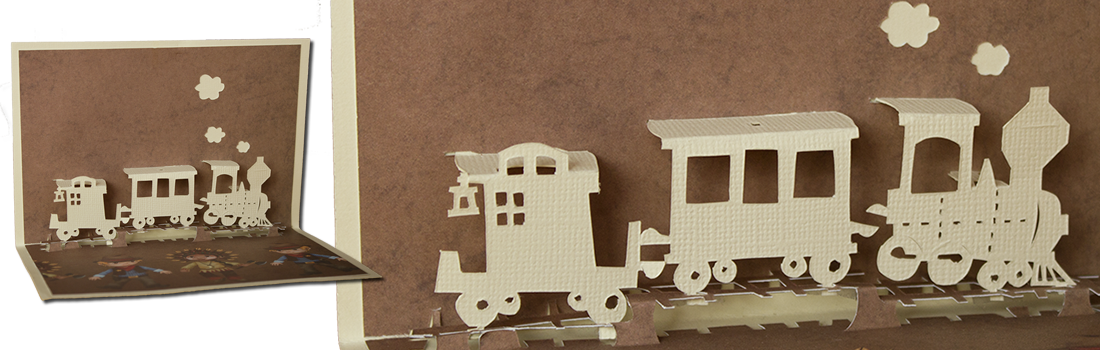 petit train en kirigami