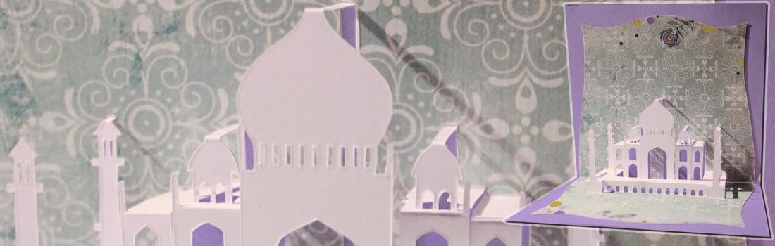 Taj Mahal en kirigami